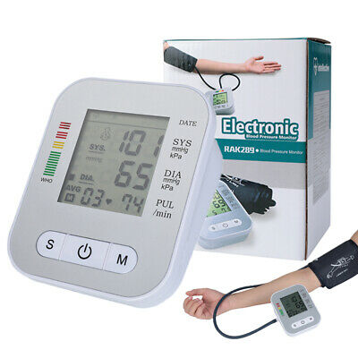 Digital Upper Arm Blood Pressure Monitor LCD Screen Heart Rate w/ Voice Talking