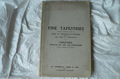 Christies  Sale Catalogue April 3 1927 Tapestries Of Duke Of Brunswick-Luneburg