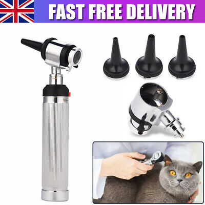 Veterinary Medical Otoscope Surgical Speculum Set Diagnostic Opthalmoscope Kit