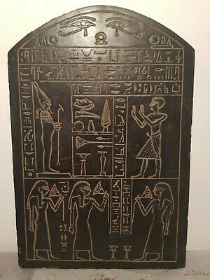 Rare Antique Ancient Egyptian Stela Book of Dead Holy Word God Osiris1860-1690BC