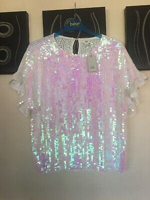 River Island Girls Sequin Top Dress Age 11-12 BNWT £26 Next P&P Sparkly Xmas