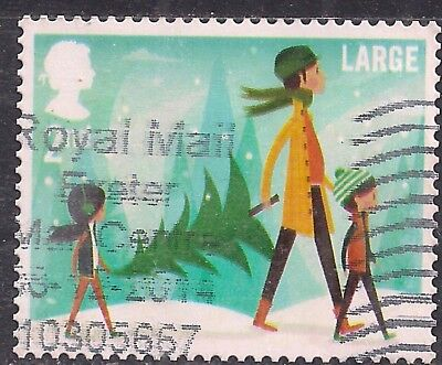 GB 2014 QE2 2nd Class Large Letter Christmas used stamp SG 3652 ( F1059 )