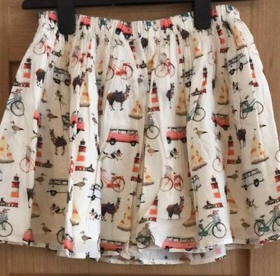 Brand New Next Girls Summer Lined Skirt Aged 10 Years.