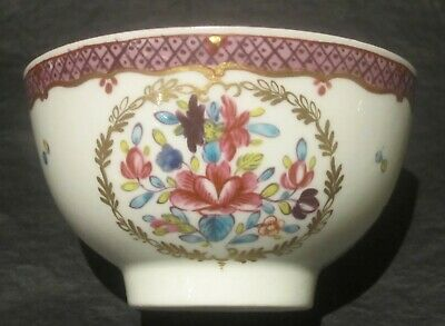 Antique Chinese Export Famille Rose Teabowl