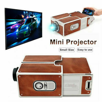Mini Portable Cardboard Smart Phone Projector for Home Theater Projector Yz
