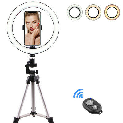 10'' LED Ring Light With Stand For iPhone Selfie Makeup Photography Video Live