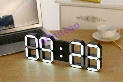 Snooze Wall Table Or Night Digital Led Clock 3d Pc Timer 24/12 Alarm Watch Desk`