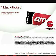 AMC Theaters Black Ticket (digital delivery)