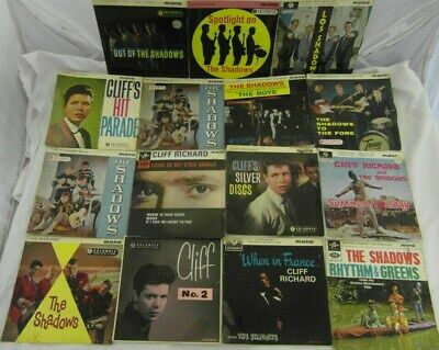 "JOB LOT - 15x -  7"" vinyl SINGLES by Cliff Richard & The Shadows VGC Play worn"