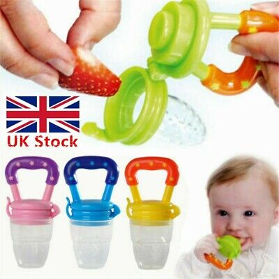 Baby Dummy Feeding Fresh Fruit Food Feeder UK Nibbles Weaning Nutrition Pacifier