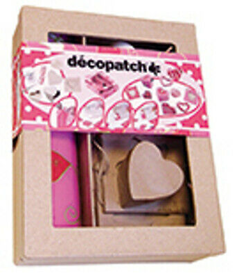 Decopatch Love and Hearts Themed Decoupage Decorating Kit