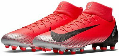 Nike Superfly 6 Academy Cr7 Fg/Mg Football Boots - Uk 8 & 10.5 - Red/Blk Ronaldo
