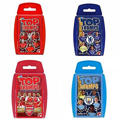 Top Trumps Card Game Kids Football Arsenal Chelsea Liverpool Man City 2016/17