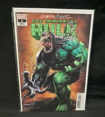 Absolute Carnage Immortal Hulk #1 Keown 1:25 Codex Variant Cover Marvel 2019