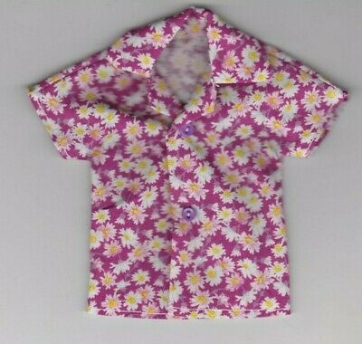 Homemade Doll Clothes-Beautiful Purple Print Shirt fits Ken Doll B2