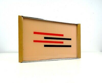 Avantgarde German Suprematism Bauhaus Geometric Cubist Tray Art Deco