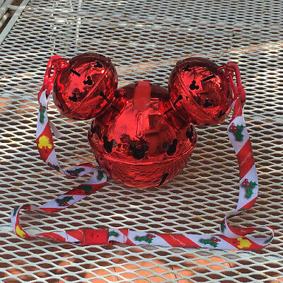 Disney Parks Christmas 2019 Mickey Ears Jingle Bell Ornament LIGHT UP Sipper Cup