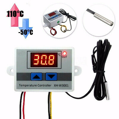 12V Digital LED Temperature Controller 10A Thermostat Control Switch Probe UK.