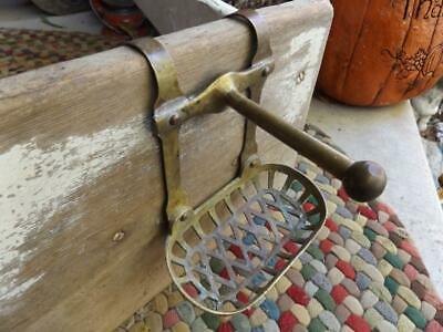 Vintage Brass Soap Dish Holder With Washcloth Hook Clawfoot Tub Hang Wall Mount