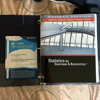 Statistics for Business & Economics 13th Edition With Cengage Mindtap unopened