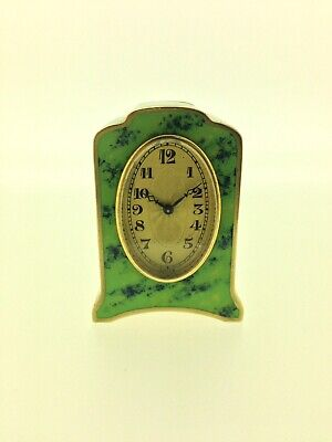 Rare  Enameled Miniature Carriage Clock