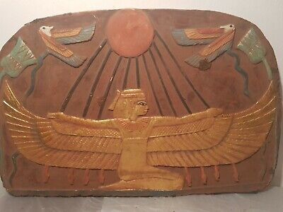 Rare Antique Ancient Egyptian Stela Goddess Isis Good Health medicine1640-2570BC