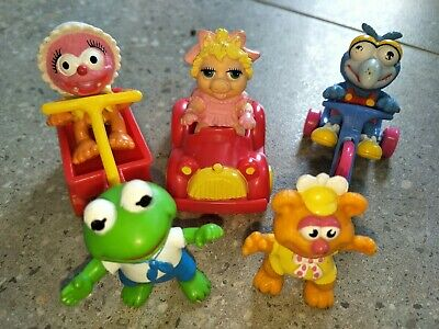 MCDONALDS TOYS, MUPPET BABIES  1986 Happy Meal Complete set ex s/board & r/horse