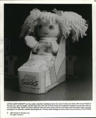 1989 Press Photo Little Lost Socks toy doll by Worlds of Wonder, Inc.