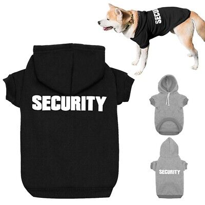 SECURITY Winter Dog Clothes for Small Dog Warm Pet Hoodie Jacket Coat Apparel