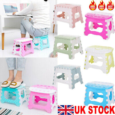 UK Plastic Folding Step Stool Portable Folding Chair Small Bench for Children