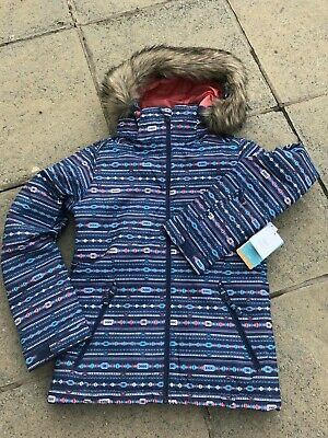 New Girls Ladies Roxy Jet Ski Snowboard Jacket, 10K Dryflight, Age 16 (Size 8)