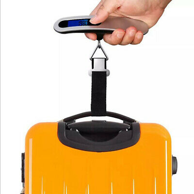 Portable Travel Tare Hanging Digital Suitcase Luggage Weight Scale 50kg #YS