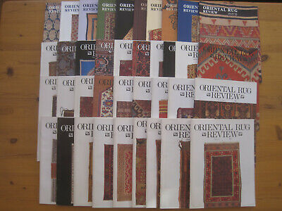 Oriental Rug Review Collection: Vol 10/1 – Vol 16/2 (10/89-1/96), 38 issues