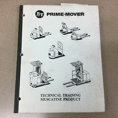 BT Prime Mover ELECTRIC & HYDRAULIC SCHEMATICS MANUAL PALLET JACK FORKLIFT TRUCK