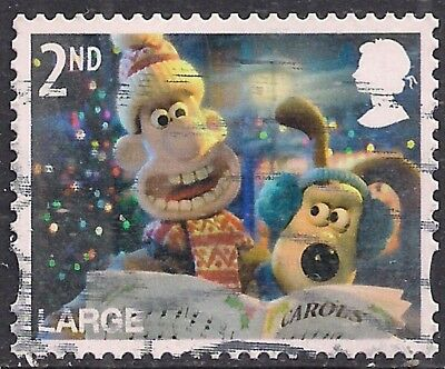 GB 2010 QE2 2nd Class Large Letter Christmas used stamp SG 3130 ( F1014 )