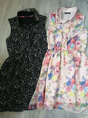 Two Girls Dresses Age 9 To 10 Years George Party Christmas
