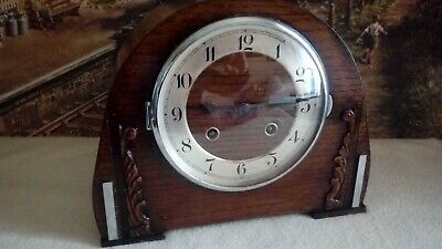 Art Deco style Mantle clock in excellent restored serviced working condition