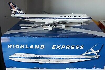InFlight200 IF7411216 Boeing 747-123 Highland Express G-HIHO + stand in 1:200