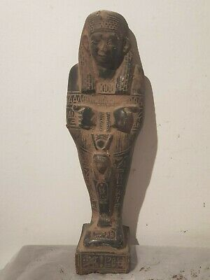 Rare Antique Ancient Egyptian Ushabti Servant God Isis Health Cure1750-1670BC