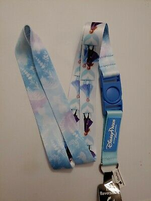 Disney Parks 2019 Frozen II 2 Reversible Anna Elsa Olaf Lanyard New with Tags