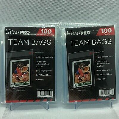 200 Ultra Pro Team Bags Resealable Sleeves Holds Team Card Sets No PVC/Acid Free