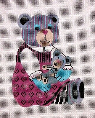 KW 950S Teddy Bear HP Hand Painted Needlepoint Canvas