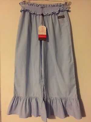 New Nwt Matilda Jane Light Blue Ruffle Capri Cropped Pants Serendipity Sz 8