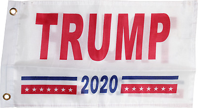 TRUMP 2020 FLAG WHITE OFFICIAL NYL USA American Heavy Duty Single & Double Sided