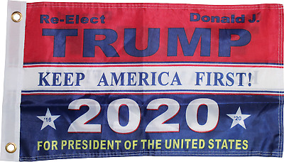 TRUMP 2020 FLAG BLUE OFFICIAL NYLON USA American REELECT TRUMP FLAGS 2ply & 1Ply