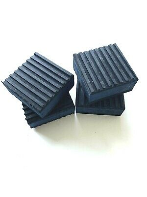 4 PACK ANTI VIBRATION PADS ISOLATION DAMPENER SUPER HEAVY DUTY BLUE 6x6x7//8