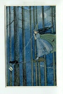 Postcard  Ida Rentoul Outhwaite A & C Black Series  Witch and cat