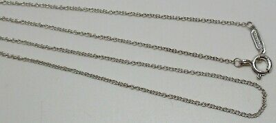 "Vintage TIFFANY & CO. Sterling Silver 18-1/4"" Necklace - 100% AUTHENTIC, L@@K!"