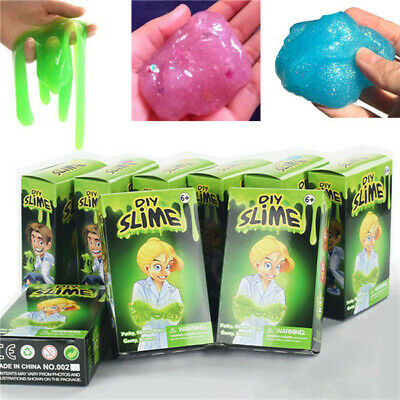 DIY Weird Fluffy Slime Kit Science Chemistry Making Stress Relief Toy Kids Gift