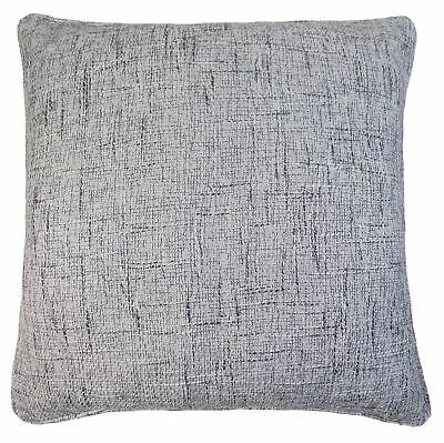"Textured Woven Grey Silver Piped 21""- 55Cm Thick Piped Large Cushion Cover"